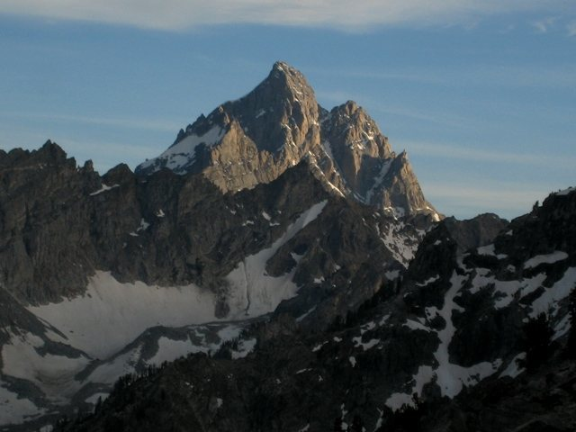 Rock Climbing Photo: Grand Teton from CMC camp