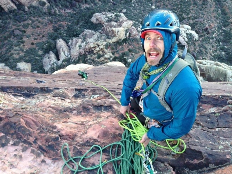 Rock Climbing Photo: Top of the last pitch of Crimson! Great full day o...