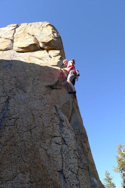 Rock Climbing Photo: Mike Arechiga on, Hocus Pocus Arete.5.10b