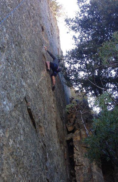Rock Climbing Photo: Alex Barnett on Cleaning Lady
