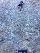 Rock Climbing Photo: Starts directly under the two obvious large pocket...