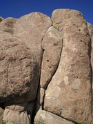 Rock Climbing Photo: Trump or Hillary route