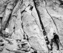 Rock Climbing Photo: First pitch 5.8 variation.  It is similar to the 5...