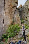 Rock Climbing Photo: Taping up for Scorpio.