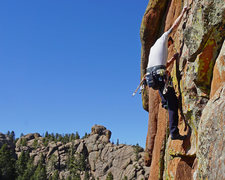 Rock Climbing Photo: On Topaz in DH, one of the best 10s...so fun.