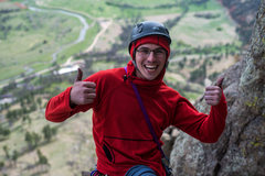 Rock Climbing Photo: Just after completing the Durrance pitch. Don'...
