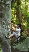 Rock Climbing Photo: Leggo My Ego Arete, River Boulders Index, WA