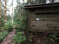 Rock Climbing Photo: Old trailhead sign at the old trailhead for Squire...