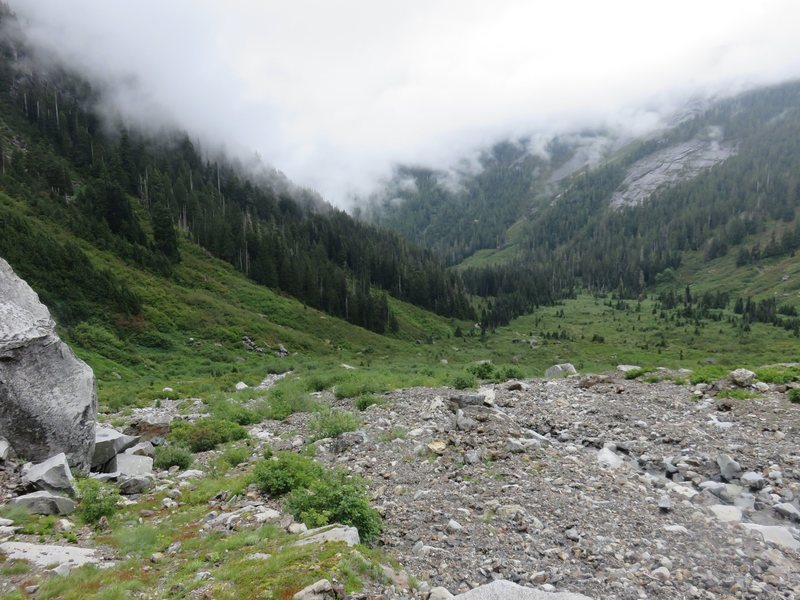 Rock Climbing Photo: Looking back at the Squire Creek Valley from near ...