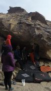 Rock Climbing Photo: Using the bat hang on this fun problem.