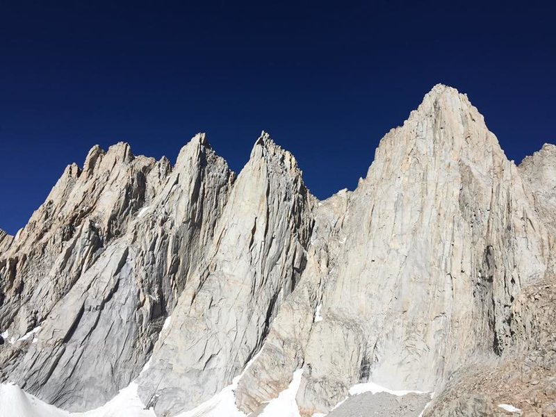Base of Mt Whitney at Iceberg Lake