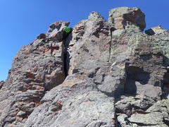 Rock Climbing Photo: The 40' technical section shown.