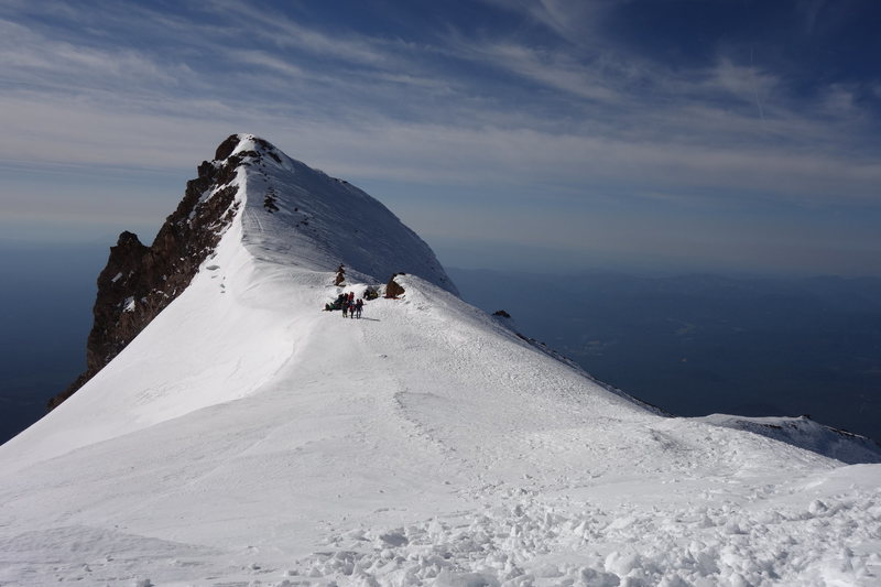 Top of Avalanche Gulch, Mt. Shasta