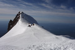 Rock Climbing Photo: Top of Avalanche Gulch, Mt. Shasta