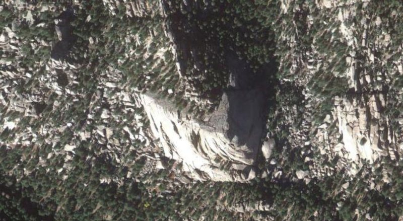 Rock Climbing Photo: Overhead from Google Earth.