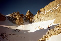 Rock Climbing Photo: Matterhorn Peak couloirs