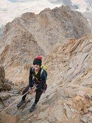 Rock Climbing Photo: rapping down Mt Humphreys