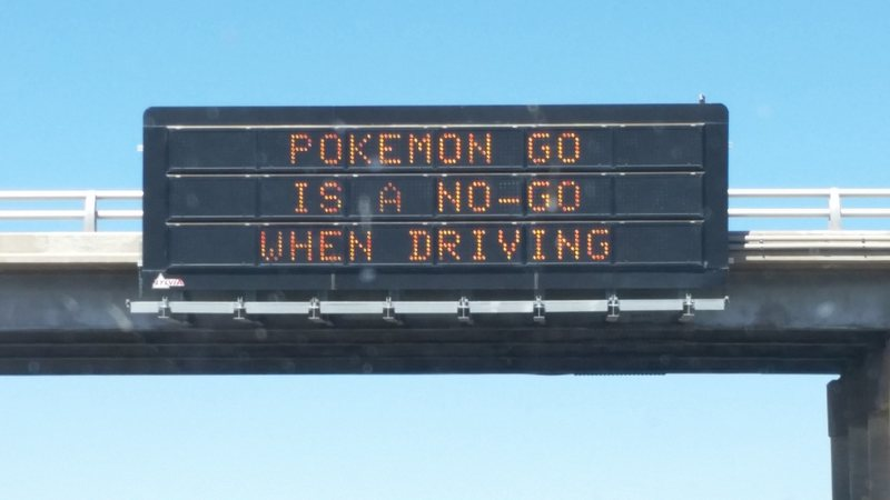 Sign on a freeway.<br>