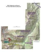 Rock Climbing Photo: Approach Map for Dreamer.
