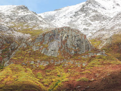 Rock Climbing Photo: Late fall overview of the crag.