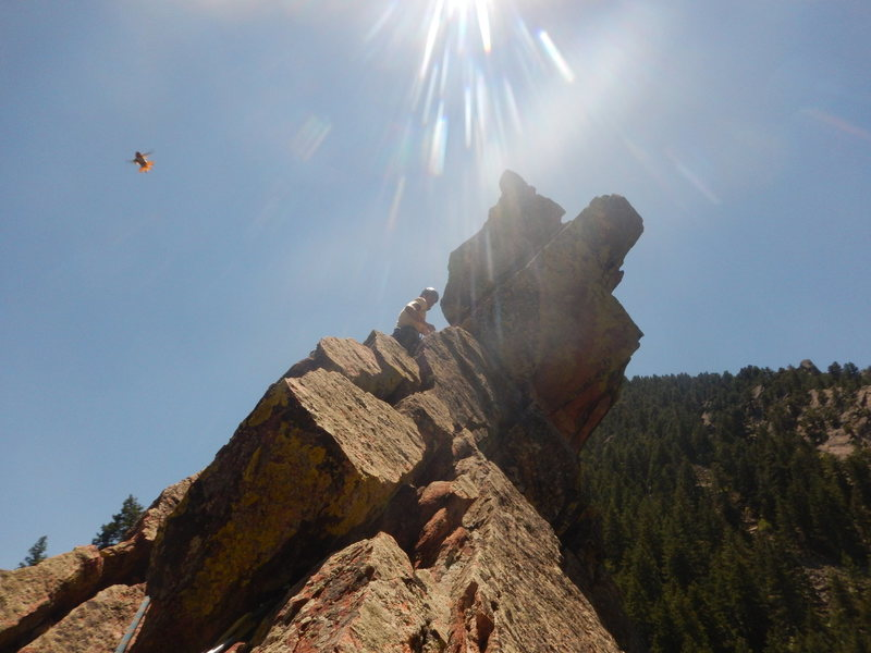 Rock Climbing Photo: Not the greatest photo, but I do like the photobom...