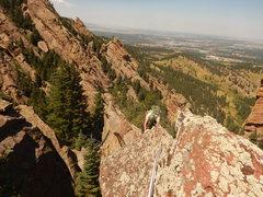 Rock Climbing Photo: Climbing up the ridge.