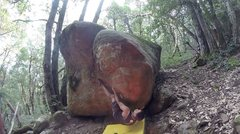 Rock Climbing Photo: Keeping the starting super high heel hook for the ...