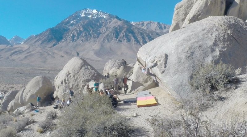 Rock Climbing Photo: Almost always a busy day on Iron Man Traverse