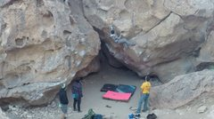 Rock Climbing Photo: Cold day on the weekend
