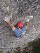 Rock Climbing Photo: Clint on the FA.