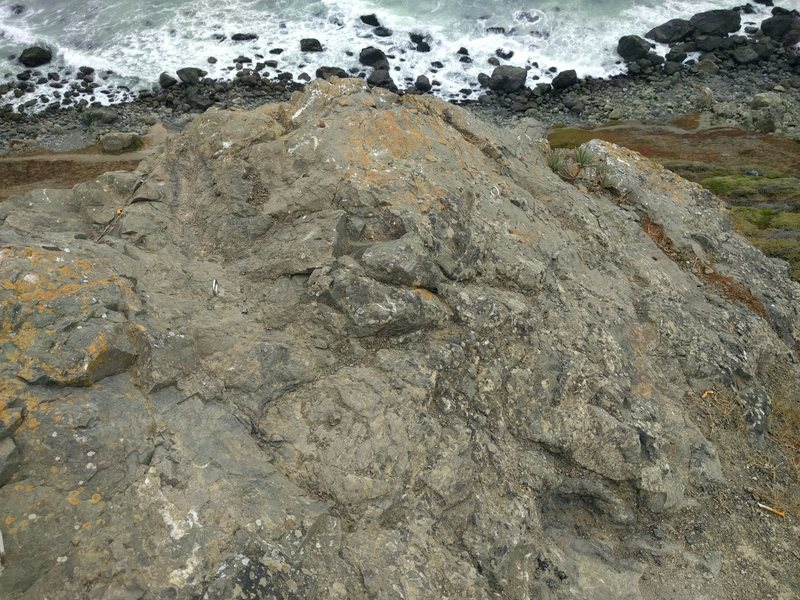 Bolts at top of Pacifica Headlands Toprope area
