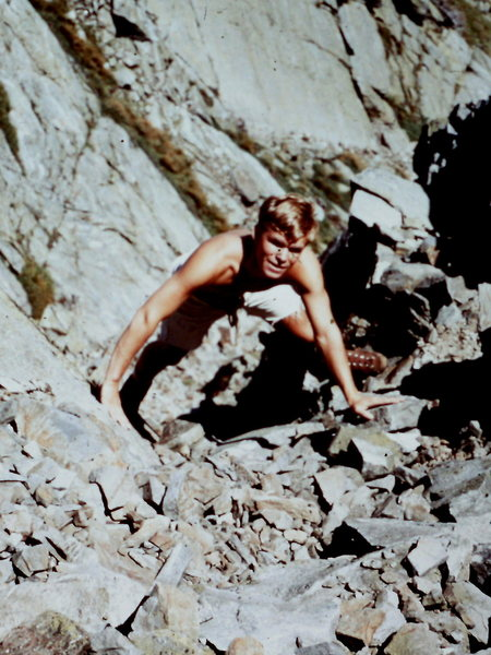 The late Tom Rhimarki in Central Gully, Huntington&@POUND@39@SEMICOLON@s Ravine, Mt. Washington.