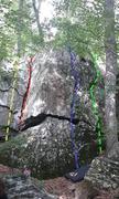Left side of Galt Line Boulder, Morgan Run