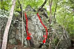 Tree People Boulder (Photo pulled from Morgan Run Guide)