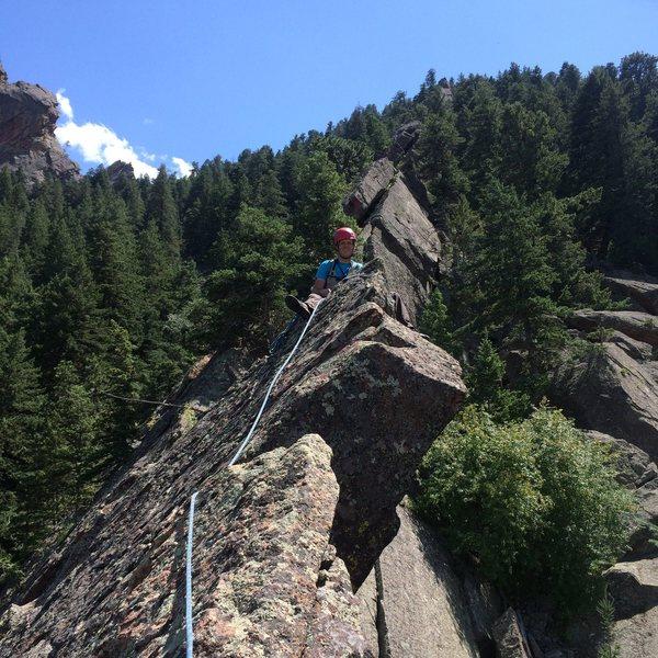 Rock Climbing Photo: Sitting on the summit.