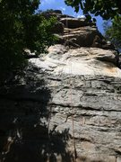 Rock Climbing Photo: Photo of the Top rope at the Stinky Pinky route on...
