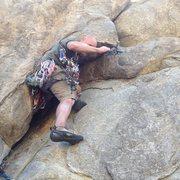 Rock Climbing Photo: At a good stance near the bottom.
