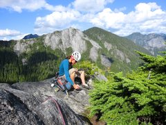 Rock Climbing Photo: Janet on top. Climbing the 10th pitch (5.6) is wor...