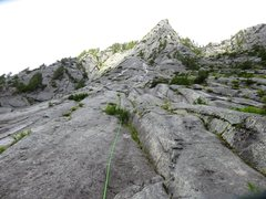 Rock Climbing Photo: Pitch 1 of the direct start (actually this is Pitc...