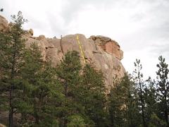 Rock Climbing Photo: West Face shows ELO crack, as shown.