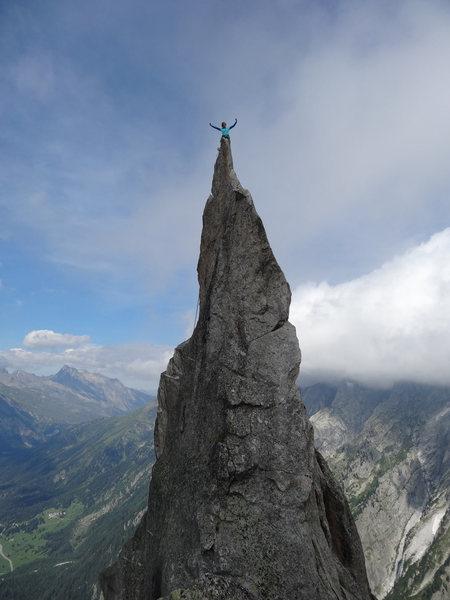 Rock Climbing Photo: Me @ La Fiamma, Switzerland