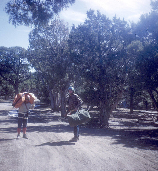 Headed to the descent gully, Black Canyon 1972 Brian Robertson, Chris Nelson