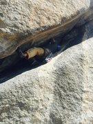 Rock Climbing Photo: A tight squeeze!