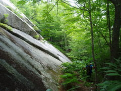 """Rock Climbing Photo: """"Toe"""" of the slab, nearly at the START o..."""
