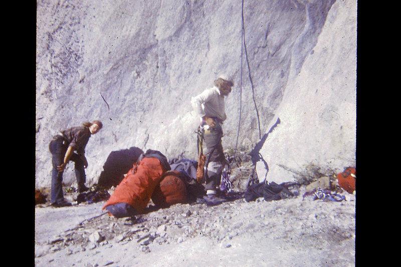 FA Mescalito 1973; Hugh & Charlie at the base