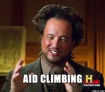 Rock Climbing Photo: aid climbing
