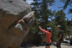 Rock Climbing Photo: Pauline working her way through the slopers back t...