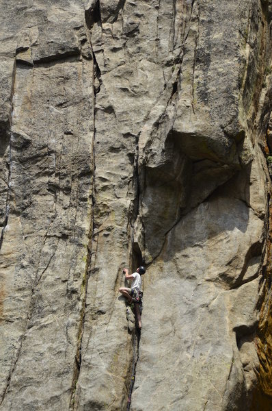 Unknown climber on West Face.