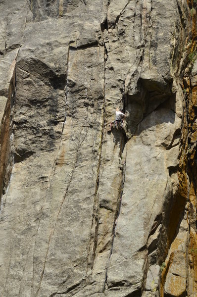 Rock Climbing Photo: Unknown climber on West Face.