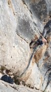 Rock Climbing Photo: Clipping a bolt on the send go of the classic